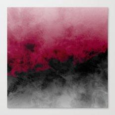 Zero Visibility Crimson Canvas Print