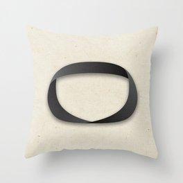 Möbius strip Throw Pillow