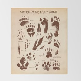 Cryptids of the World Throw Blanket