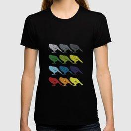 Neon Pop Art Retro Kakapo Bird Gift T-shirt