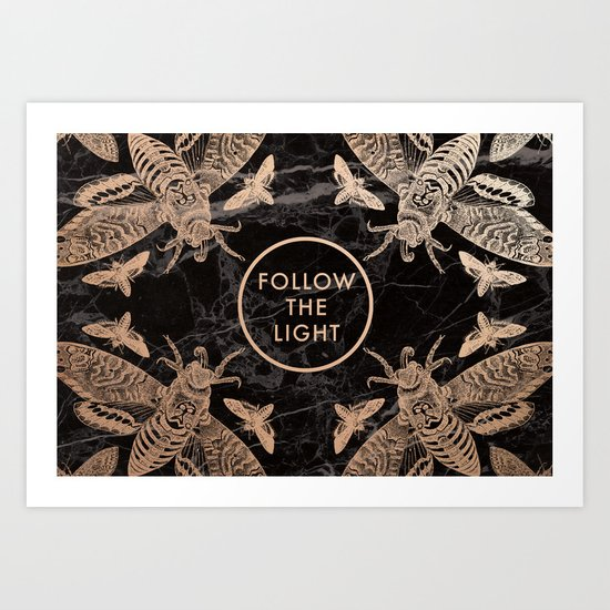 Society6 Follow the Light Quote Art Print