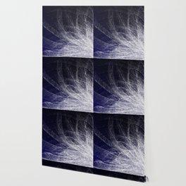 Cyan Texture Feathers Wallpaper