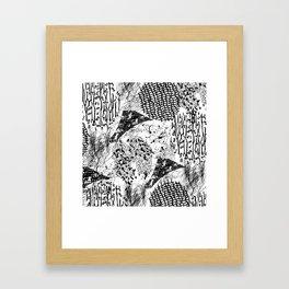 graphic mosaic Framed Art Print