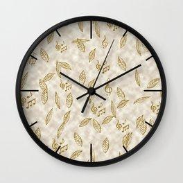 Abstract Gold Fall Foliage Symphony Wall Clock
