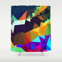 bands Shower Curtains featuring harlequin bands by Tulipe Studio