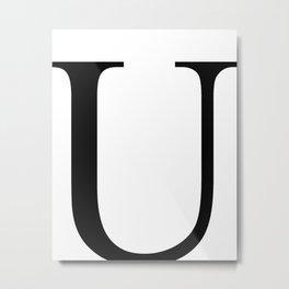 U letter Metal Print