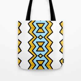 Yellow Hourglass Pattern Tote Bag