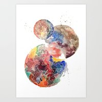 planets Art Prints featuring Planets by emluluna