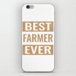 """""""Best Farmer Ever"""" Gardening Shirt For Gardeners T-shirt Design Hobby Garden Tractor Farm Rake iPhone Skin"""
