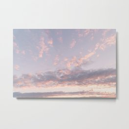 Fluffy Sunrise Clouds Metal Print