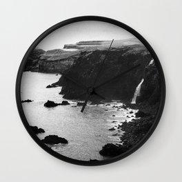 Azores coastal landscape Wall Clock