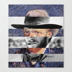 Van Gogh's Self Portrait & Clint Eastwood (2) Canvas Print