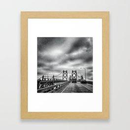 Interstate 74 Bridge - IL/IA Framed Art Print