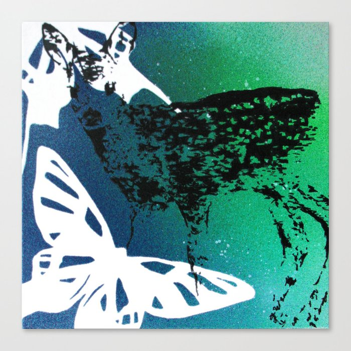 ich schlafe doch mein Herz ist wach 04 Canvas Print