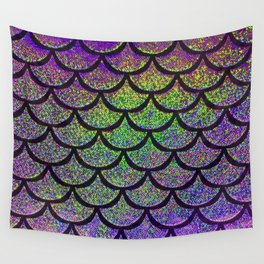 Lavender Lime Scales Wall Tapestry