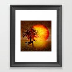 Visions of fire Framed Art Print
