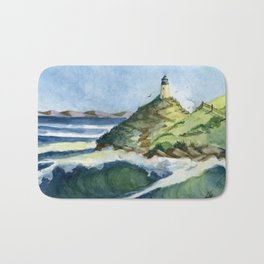 Peaceful Lighthouse V Bath Mat
