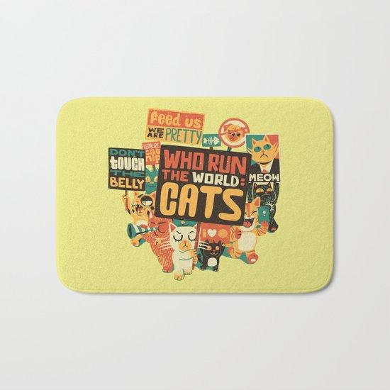 Who Run The World Cats Bath Mat