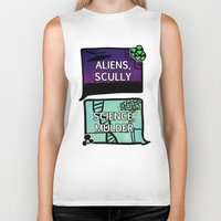 dana scully Biker Tanks featuring Aliens, Scully by raynall