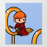 quidditch Canvas Prints featuring Quidditch Keeper by Nitya Chirravur