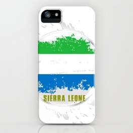 sierra leone Flag with a Splash iPhone Case