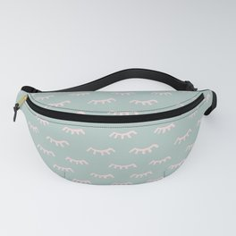 Small Mint Sleeping Eyes Of Wisdom - Pattern - Mix & Match With Simplicity Of Life Fanny Pack