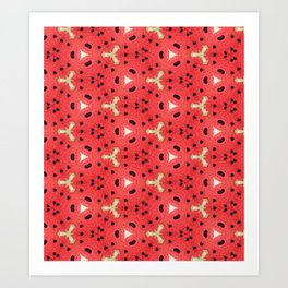 Gabriella Watermelon Slime Design Art Print