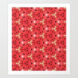 Gabriella Watermelon Slime Design Art Print