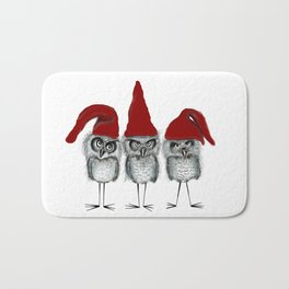 Christmas owls Bath Mat