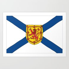 The Flag of Nova Scotia  Art Print