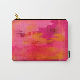 """""""Abstract brushstrokes in pastel pinks and solar orange"""" Carry-All Pouch"""
