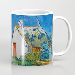 Three white cottages in Saintes-Maries by Vincent van Gogh Coffee Mug