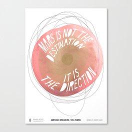 American Dreamers // Dr. Zubrin Canvas Print