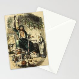 Scrooges third visitor-John Leech Stationery Cards