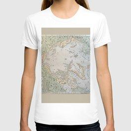 North Pole antique map 1800s T-shirt