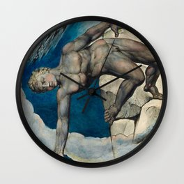 William Blake - Antaeus setting down Dante and Virgil in the Last Circle of Hell Wall Clock