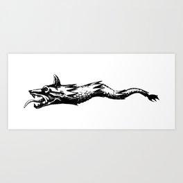 dacia wolf flag Art Print