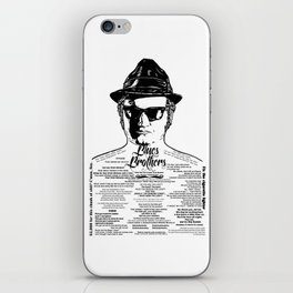 Jake Blues Brothers 'Four Fried Chicken' iPhone Skin