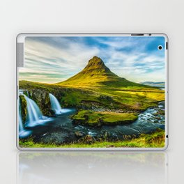 Triple waterfalls of Kirkjufell in Iceland I Laptop & iPad Skin