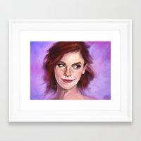 emma watson Framed Art Prints featuring Emma Watson by Killerkun