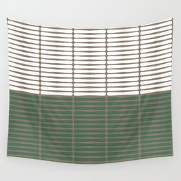 gomila (green/white) Wall Tapestry