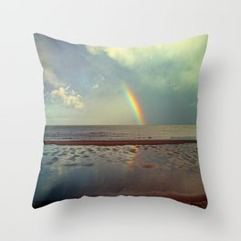 Rainbow Over Sea Throw Pillow