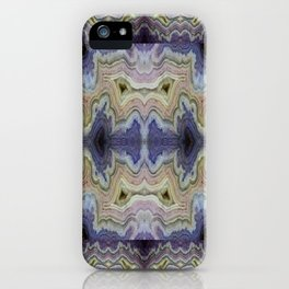 Royal Aztec Lace Agate iPhone Case