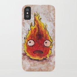 Burning Calcifer iPhone Case