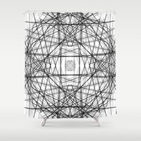 code Shower Curtains featuring Code 2 by Dood_L