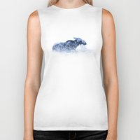 moose Biker Tanks featuring Moose by fly fly away