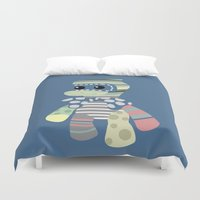 doll Duvet Covers featuring doll by vidikay