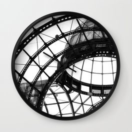 B&W Domed Roof Wall Clock