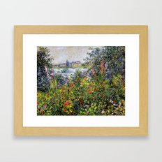 Monet: Flowers at Vetheuil Framed Art Print