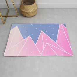 Sparkly Pink Crystals Design Rug